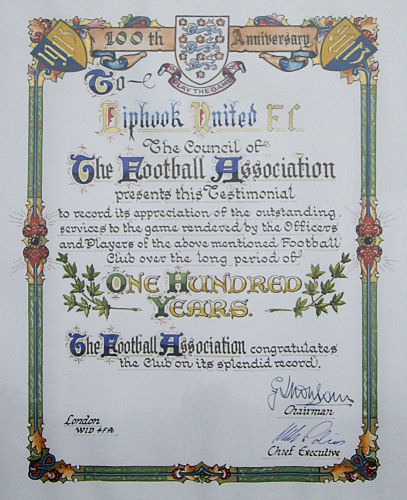 FA Testimonial presented to Liphook United FC