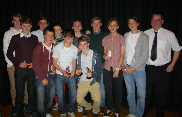 Under 15s with their manager