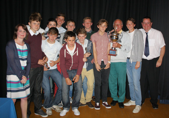 Under 15s with the MSYFL Under 15 League Cup