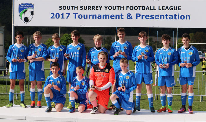 South Surrey Youth Football League, Under 14s, Division 2, Runners-up 2017