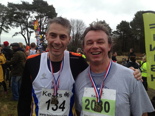 Dan and Neil at the Hindhead Boxing Day Fun Run 2012