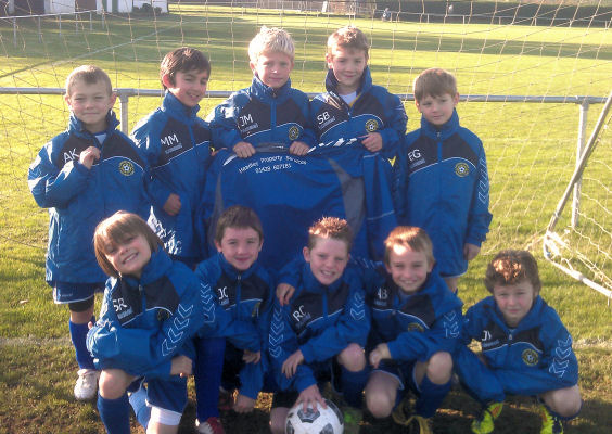 The Vipers in their new jackets sponsored by Headley Property Services